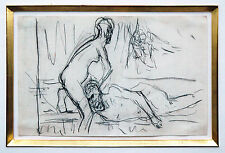 Max Liebermann 1847-1935 Samson Dalila/Simson Delilah Kreide 1902/1909 Expertise