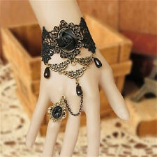 Hot Black Women Gothic Lace Bracelet Bangle Retro Jewelry Women Prom Accessories