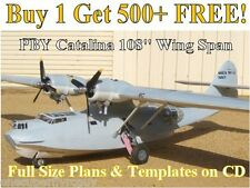 "PBY Catalina 108"" WS Giant Scale RC Airplane Full Size Plans & Templates on CD"