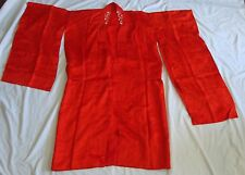 TRUE VINTAGE JAPANESE HOUMONGI KIMONO FROM FAMILY TREASURE CHEST RED SILK