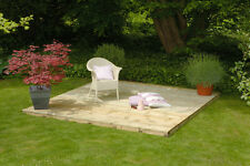 GARDEN TIMBER DECKING COMPLETE BASE ONLY DECK KIT PACK 2.4M X 2.4M WITHOUT RAILS
