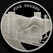 2004 Jersey Silver Proof £5 Golden Age of Steam Storming Tunnel Royal Mint + COA