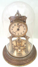 Urania German Anniversary 400 Days Winding Movement Mantle Clock & Glass Dome