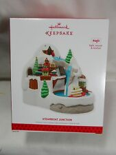 2013 Hallmark Keepsake Steamboat Junction Magic Light Sound Motion Train