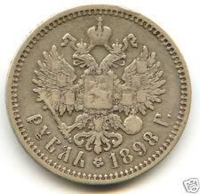 RUSSIE NICOLAS II (1894-1917) ROUBLE 1898 SAINT-PÉTERSBOURG  !!!