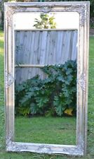 Silver Large Bevelled Wall Mirror & Frame, Antique, Chic, 150cm x 80cm