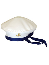 Sailors Sailor Hat Marine Navy Seaman Captains Unisex Fancy Dress Accessory New