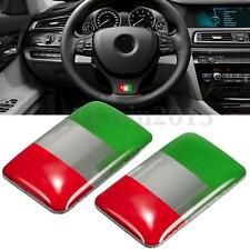 2Pcs Italy Flag Italian Resin Emblem Badge Decal Sticker 18 x 11MM For Auto Car