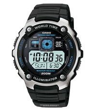 Casio Watch * AE2000W-1AV Smart Power Cockpit Style Black Silicone COD PayPal