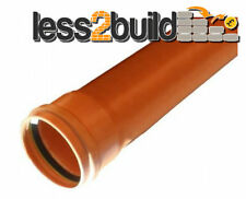 110mm Underground 3m Length Pipe Drain Drainage Single Socket Per Length x 1