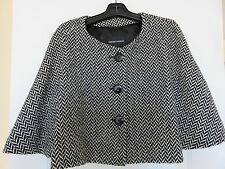 EMPORIO ARMANI stunning black and white swing style jacket sz 12 L XL