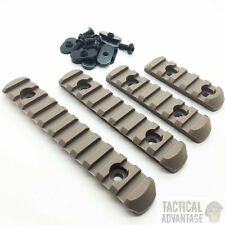 Tan/ Dark Earth 20mm RIS Polymer Rail Set for MOE PTS Handguard 4 Rails Element