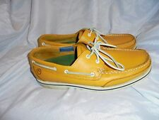 ROCKPORT MEN'S YELLOW LEATHER LACE UP LOAFERS SHOES SIZE UK 9.5 EU 43.5 US 10.5