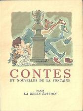 Fables de Jean de La Fontaine / Contes et nouvelles Gaston Barret André Collot