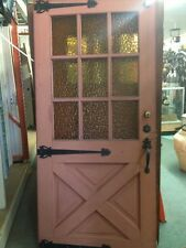 Old Antique Vintage 1940 Spanish Ranch Style Front Door With Hardware Old
