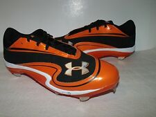 Under Armour Natural lll Mens Low Metal BASEBALL CLEATS (Orange) NEW Mens Sz 16