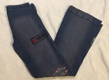 Incredibly unique SWAYZE JEANS Brazil SIZE 8 US, COLOR BLUE with Embroidery