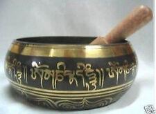 Vintage Tibetan Copper Gold Gilt Large Singing Bowl
