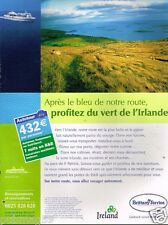 Publicité advertising 2002 Irlande avec Brittany Ferries