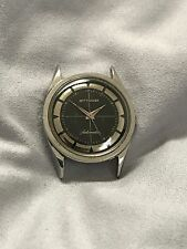 Vintage Wittnauer Automatic Watch with Black Gilt Cross Hair Mirrored Dial