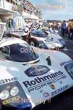 Rothmans Porsche 962 C Pit Lane Le Mans 1985 Photograph