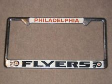 VINTAGE 1980's PHILADELPHIA FLYERS ☆RARE☆ NHL HOCKEY LICENSE PLATE FRAME