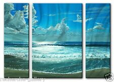 Metal Art Contemporary Ocean Beach Wall Sculpture Painting USA Made Home Decor