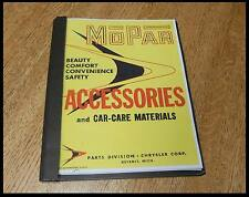 1956 Mopar New Accessory Catalog Plymouth Chrysler Dodge DeSoto Imperial gift