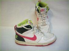 NIKE High Top BIG NIKE DUNK LE  Youth Size 5 - #344578-100 Neon Pink Green White