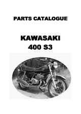 Kawasaki parts manual book 400cc S3 & S3-A Triples