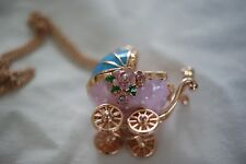 Betsey  Johnson 'Walk In The Park Baby Carriage' Necklace