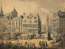 THOMAS ROWLANDSON BRITISH PLACE DE MEIR ANTWERP OLD ART PAINTING POSTER BB6443A