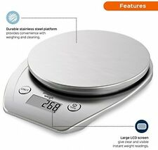 Smart Weigh Multifunction Digital Kitchen and Food Scale with Stainless Steel