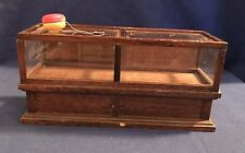 DollHouse Furniture Wood Store Counter Top Display Case Miniature w toy yoyo