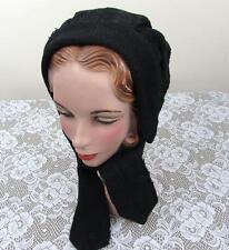 Antique Knit Bonnet Hat - Northern Woolen Mills - Cotton Lined - Victorian/Edw