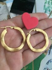 Rivka Friedman earrings Wavy Hoop 18k Gold-Clad By NEW$95