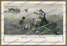 Karl Raupp Chiemsee Boot Fischer Familie Oberbayern Malerei Romantik Poesie 1912