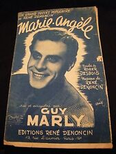 Partition Marie Angèle Guy Marly Music Sheet