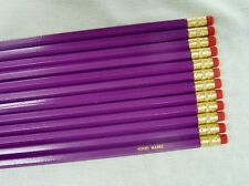 "12 Hexagon ""Light Purple"" Personalized Pencils"