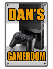 Personalized Game Room Sign Printed with YOUR NAME.Custom Sign..gamer.ps3