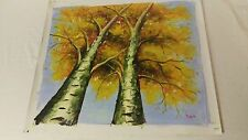 Realism landscape forest fall autumn tree Oil canvas painting art signed