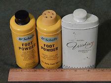 (1948) Dr Scholls Foot Powder x 2 + AVON Wishing Perfumed Talc [LOT of 3] Ltd.