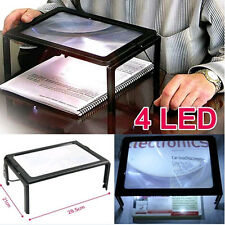 Full Page Large 3X Giant Hands Free Desktop Big Magnifying Glass with LEDS Hot