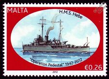 HMS HEBE (J24) Halcyon Class Minesweeper Warship WWII Malta Convoys Stamp