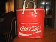 VINTAGE RARE GERMAN TRINK COCA COLA VINYL COOLER ZIP UP BAG