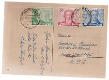 1949 Berlin Spandau West Germany Goethe postcard Cover comp set # 9N61 to 9N63