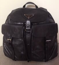Authentic Prada Leather Backpack V126