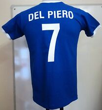 ITALY RETRO DEL PIERO 7 FOOTBALL T-SHIRT ADULTS SIZE MEDIUM BRAND NEW