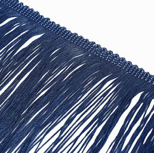 """CLEARANCE!  16"""" Remnant  Blue Polyester Chainette Fringe Trim  18"""" Long    Q-333"""