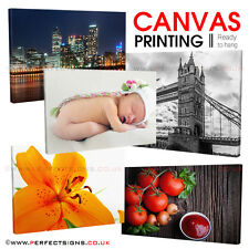 """CANVAS Printing 12""""x8"""" Personalised A4 Print Your PHOTO/PICTURE 18mm Box Frame"""